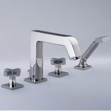 Roman Tub Set With Divertor Spout and Handshower, 3/4""