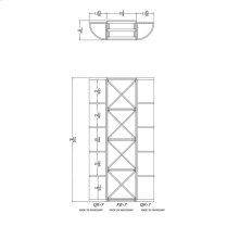 Apex 7' Mahogany Wine Rack Kit (QR-7, XB-7, QR-7) - READY TO SHIP