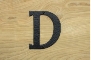"D Black 6"" Mailbox House Number 450150 Product Image"