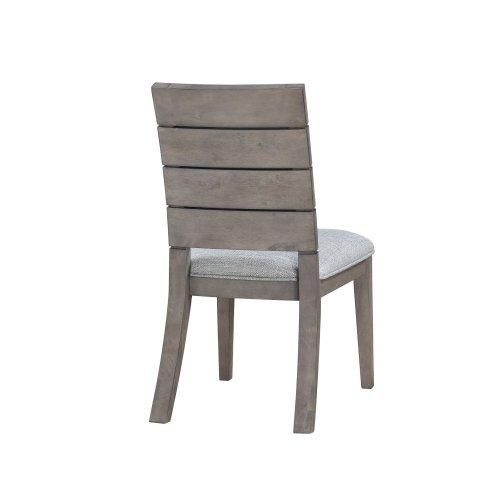 """Elora Ladder Back Side Chair, Grey, 19.5""""x24.5""""x37"""""""