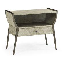 Rectangular Grey Oak Bedside Table