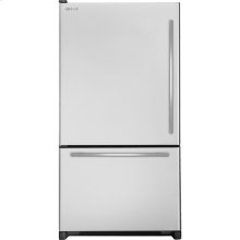 "69""(h) Cabinet Depth Bottom-Mount Left Hand Door Swing Refrigerator with Internal Dispenser, Euro-Style Stainless Handle"