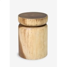 Pendulum Side Table In Natural Finish (12.5x12.5x18)