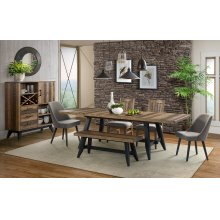 7 PIECE SET (TABLE AND 6 UPHOLSTERED SIDE CHAIRS) *BENCH IS AVAILABLE TO ORDER*