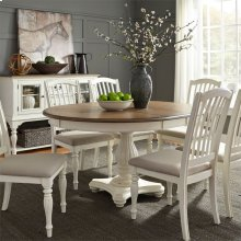 7 Piece Pedestal Table Set