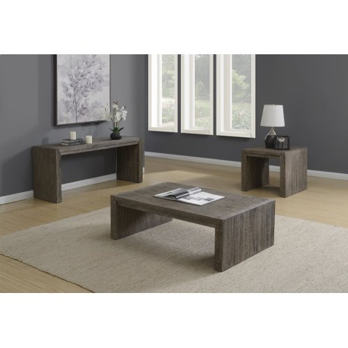 Emerald Home Cubix Rectangular Coffee Table Pewter T273-00
