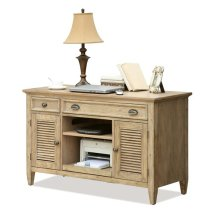 Coventry Credenza Desk Weathered Driftwood finish