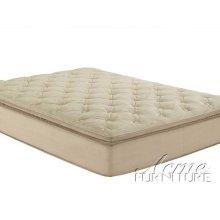 Cicely Beige Suede Queen Size Pillow Top Mattress Set
