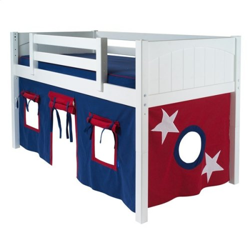 Under Bed Curtain : Blue/Red