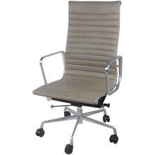 Langley PU High Back Office Chair, Vintage Smoke