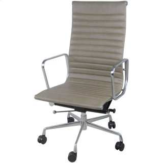Langley PU High Back Office Chair, Vintage Smoke