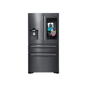 22 cu. ft. Family Hub Counter Depth 4-Door Flex Refrigerator in Black Stainless Steel Product Image
