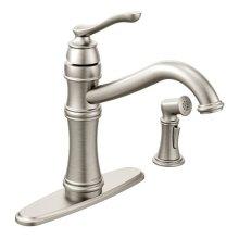Belfield spot resist stainless one-handle kitchen faucet