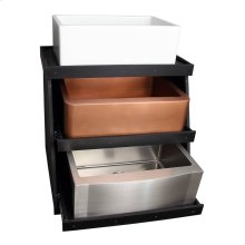 3-Tiered Display Stand for Kitchen Sinks - Black