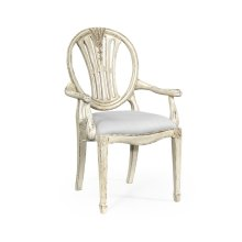 Hepplewhite wheatsheaf armchair (Off-white) - COM