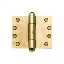 """Butt Hinge (wide throw) - 4"""" x 5"""" Silicon Bronze Brushed"""