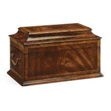 Crotch Mahogany Coffer Jewellery Box