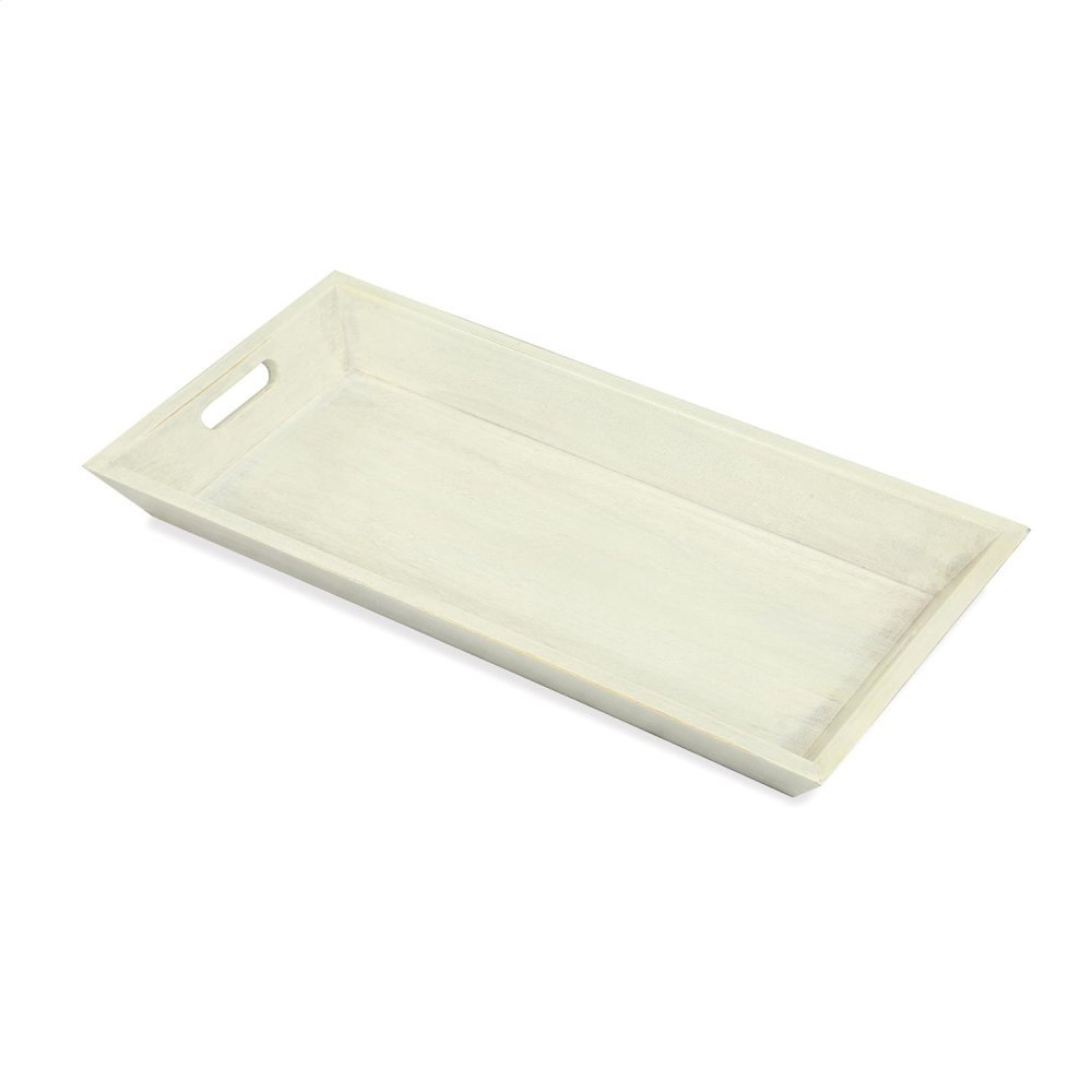 Small Tray - Swiss White Finish