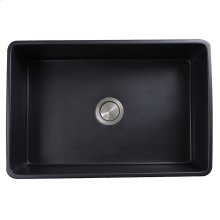 30 Inch Farmhouse Fireclay Sink with Matte Black Finish
