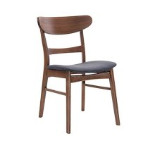 Simplicity - Side Chair Wood Back W/uph Blue Seat (Set of 2)