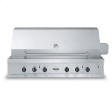 """Stainless Steel 53"""" Ultra-Premium E-Series Grill with Side Burner and TruSear - VGIQ (53"""" wide with two standard 29,000 BTU stainless steel burners and one 30,000 BTU TruSear infrared and side burners (LP/Propane))"""