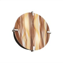 "12"" Round Clips Wall Sconce (ADA)"