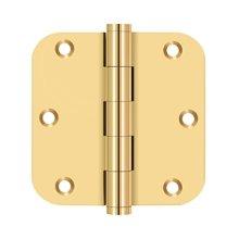 "3 1/2""x 3 1/2"" x 5/8"" Radius Hinge, Residential - PVD Polished Brass"