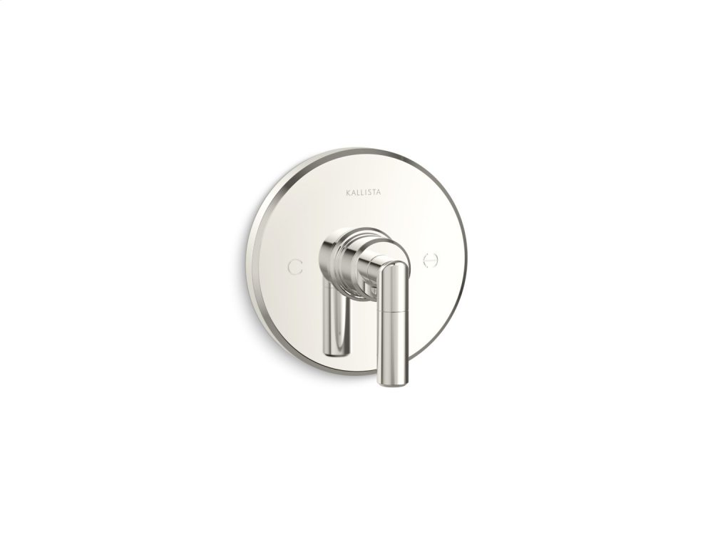 Thermostatic Trim, Lever Handle - Nickel Silver