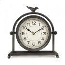 Black Metal Bird Table Clock Product Image
