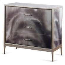 Grey Black and Cream Smokey High Gloss Chest  34in X 36in X 16in  Three Drawer Chest