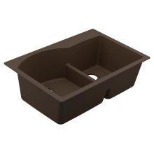 Granite Series granite granite double bowl undermount or drop in sink
