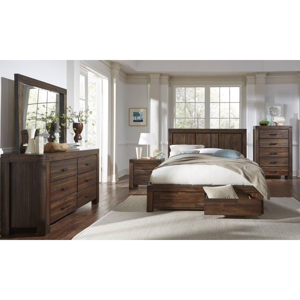 Meadow Dresser with Brick Brown Finish