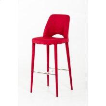 Modrest Williamette Modern Red Fabric Bar Stool