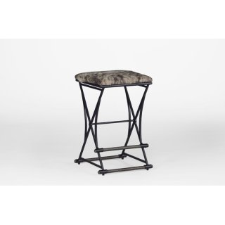 "Shields 26"" Counter Stool - Brown Hide"