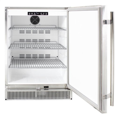 """Blaze Outdoor Rated Stainless 24"""" Refrigerator 5.2 CU"""