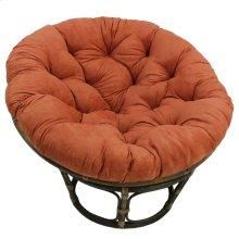 Bali 42-inch Rattan Papasan Chair with Microsuede Fabric Cushion - Walnut/Spice