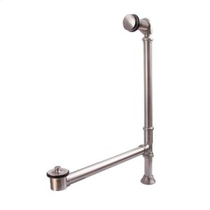 Pivoting Leg Tub Drain - Brushed Nickel Product Image