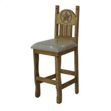 "24"" Barstool W/Cushion Seat and Star"