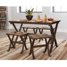 Leg Table W/metal Base