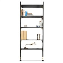 Theo Wall Unit With Small Shelves  Black