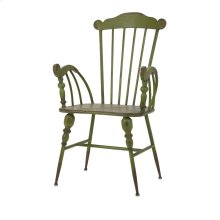 Trenton Green Metal Arm Chair