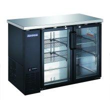 "2 Glass Door 48"" Back Bar Refrigerator"