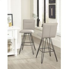 Demi Bar Height Stool with Taupe Finish