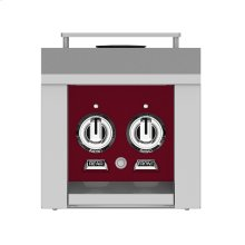 Hestan Panel, Control, Side Burner, Double, Burgundy/tin Roof
