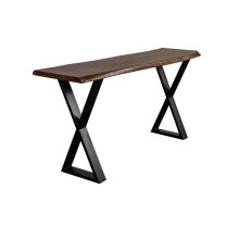 Manzanita Walnut Acacia Console Table with Different Bases, VCA-CS58W