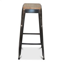 Bar Stool W/ Wooden Top