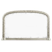 Carved and Water Gilded Silver Leaf Overmantle Mirror