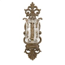 Pollianna Wall Sconce with Glass Hurricane