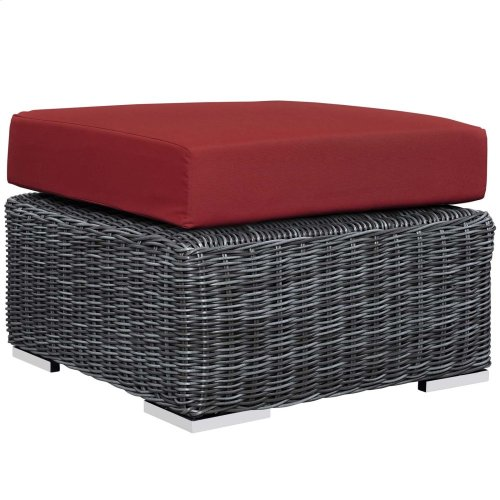 Summon 5 Piece Outdoor Patio Sunbrella® Sectional Set in Canvas Red