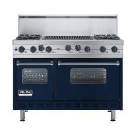 "Viking Blue 48"" Sealed Burner Self-Cleaning Range - VGSC (48"" wide, four burners & 24"" wide char-grill)"